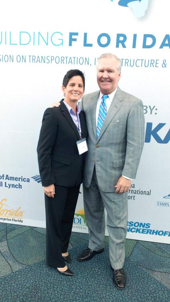 AnswerFirst Business Development Coordinator, Teri Erickson, with Tampa Mayor, Bob Buckhorn.