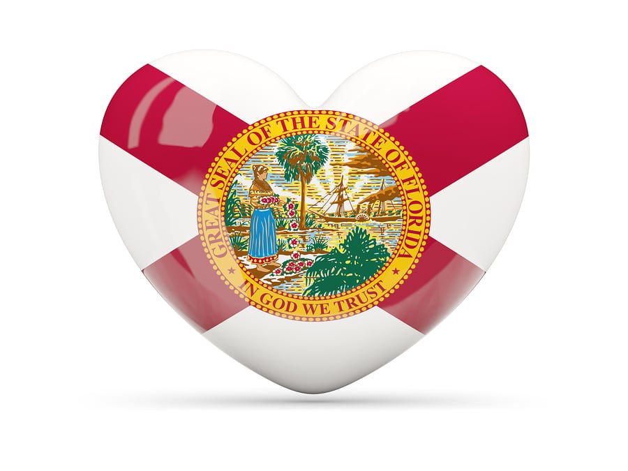 Flag of Florida on A Heart