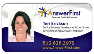 Teri Erickson, AnswerFirst Business Development Coordinator
